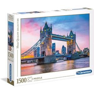 "Clementoni (31816) - ""Tower Bridge Sunset"" - 1500 Teile Puzzle"