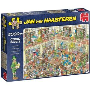 """Jumbo (20030) - Jan van Haasteren: """"The Library"""" - 2000 Teile Puzzle"""
