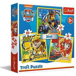 "Trefl (34839) - ""Paw Patrol"" - 20 36 50 Teile Puzzle"