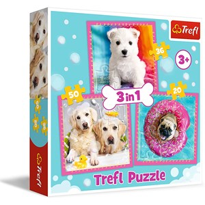"Trefl (34845) - ""Dogs"" - 20 36 50 Teile Puzzle"
