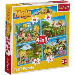 "Trefl (34356) - ""Maya the Bee Adventures"" - 12 15 20 24 Teile Puzzle"