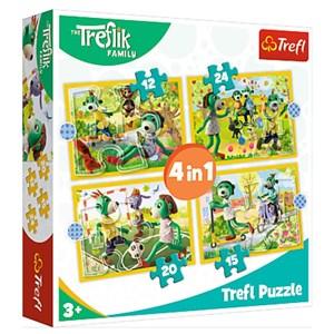 "Trefl (34358) - ""Treflik's common fun"" - 12 15 20 24 Teile Puzzle"