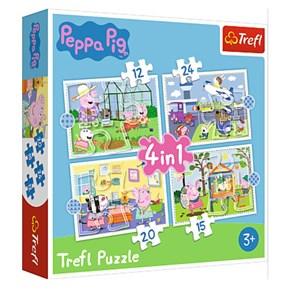 """Trefl (34359) - """"Peppa Pig"""" - 12 15 20 24 Teile Puzzle"""