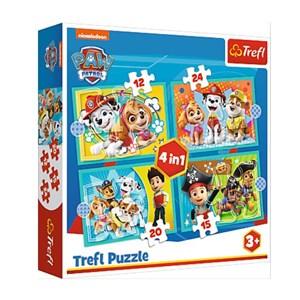 "Trefl (34346) - ""Happy Paw Patrol Team"" - 12 15 20 24 Teile Puzzle"