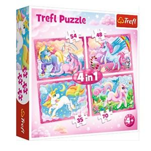 """Trefl (34321) - """"The Magical World of Unicorns"""" - 35 48 54 70 Teile Puzzle"""