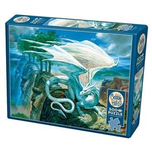 """Cobble Hill (85071) - Ciruelo: """"White Dragon"""" - 500 Teile Puzzle"""