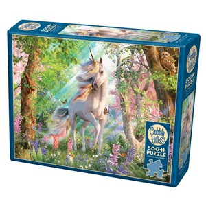 """Cobble Hill (85084) - David Penfound: """"Unicorn in the Woods"""" - 500 Teile Puzzle"""