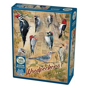 """Cobble Hill (85007) - Susan Bourdet: """"Notable Woodpeckers"""" - 500 Teile Puzzle"""