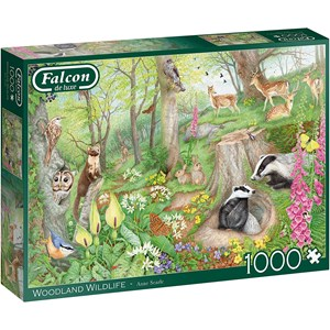 """Falcon (11322) - Anne Searle: """"Woodland Wildlife"""" - 1000 Teile Puzzle"""