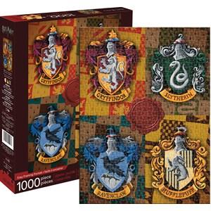 """Aquarius (65303) - """"Harry Potter Crests"""" - 1000 Teile Puzzle"""