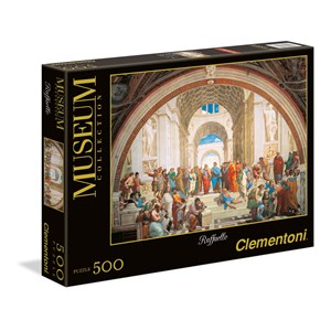 """Clementoni (35043) - Raphael: """"Die Schule von Athen"""" - 500 Teile Puzzle"""